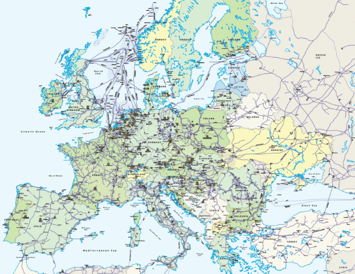 Incredibly Detailed Map The European Natural Gas Network In 2017