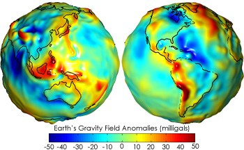 Gravity Anomalies On Earth Scale