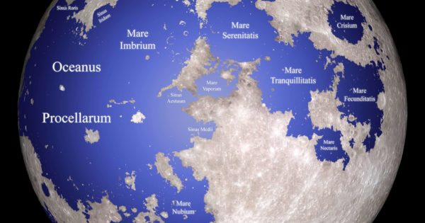 "Map of the Moon If Its ""Seas"" Were Really Seas"