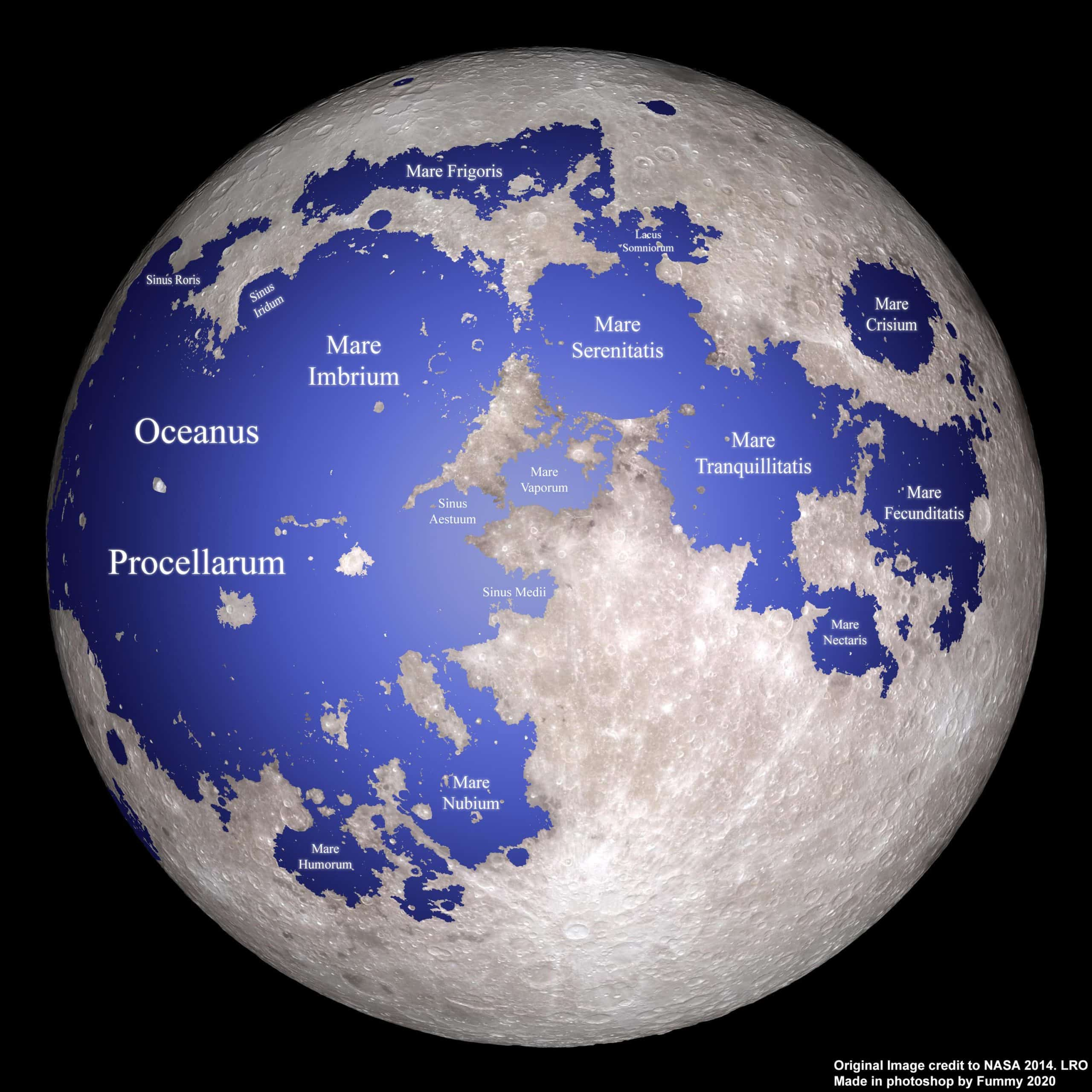 Map of the Moon if it's